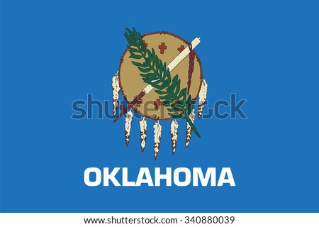 Flag of Oklahoma state of the United States. Vector illustration. - stock vector
