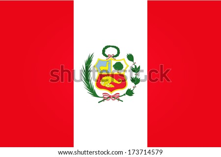 Flag of Peru - stock vector