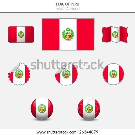 Flag of Peru - stock vector