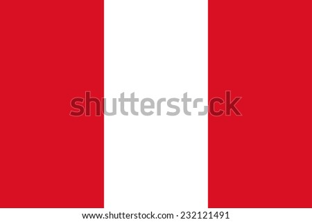 Flag of Peru  Vector Accurate dimensions, elements in eps10 - stock vector