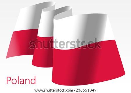 Flag of Poland. Editable Vector Illustration. Vector EPS and High Resolution JPG Files Include - stock vector