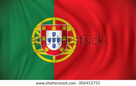 Flag of Portugal - vector illustration - stock vector