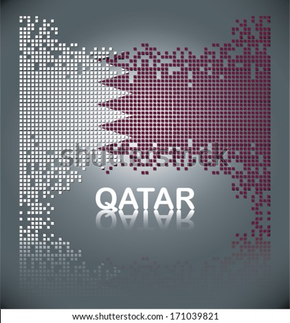 Flag of Qatar, vector - stock vector