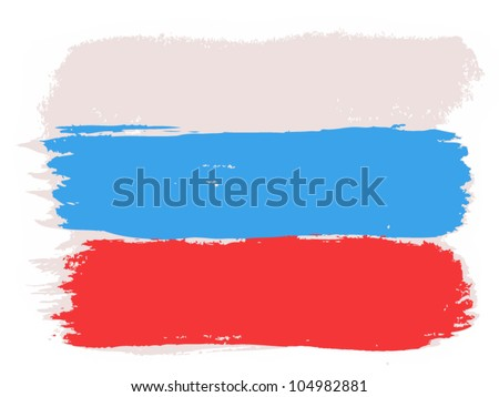 Flag of Russia, vector illustration - stock vector