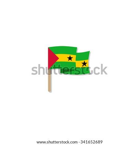 Flag of Sao Tome and Principe - stock vector