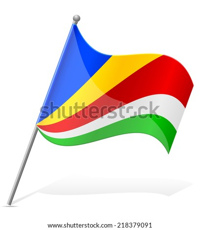 flag of Seychelles vector illustration isolated on white background - stock vector