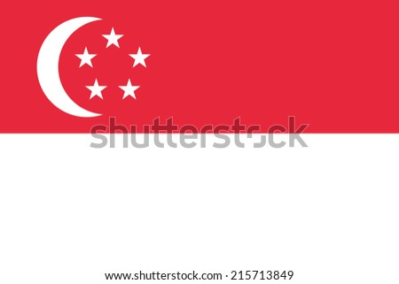 Flag of Singapore - stock vector