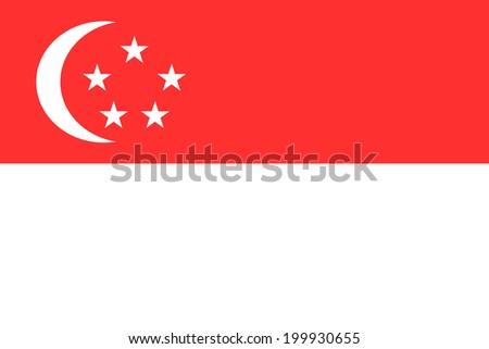 Flag of Singapore. Vector illustration. - stock vector