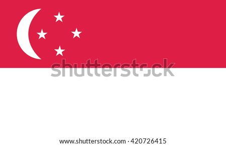 Flag of Singapore. Vector illustration - stock vector