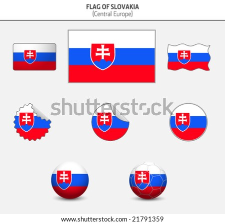 Flag of Slovakia - stock vector