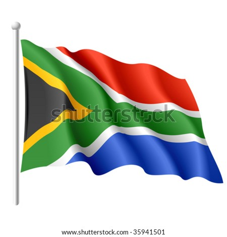 Flag of South Africa. Vector. - stock vector