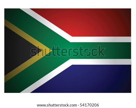 flag of South Africa vector - stock vector