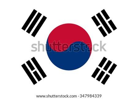 flag of South Korea - stock vector