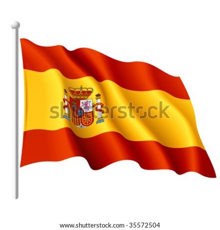 Flag of Spain. Detailed vector. - stock vector