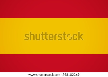 Flag of Spain EU. Vector Icon Illustration For Your Business Presentations  - stock vector