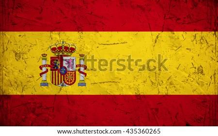 Flag of Spain or Spanish. - stock vector