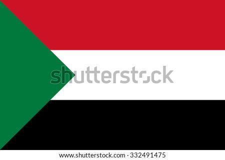 Flag of Sudan - stock vector