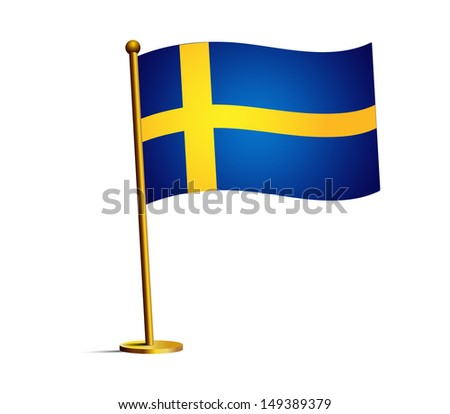 flag of sweden - stock vector