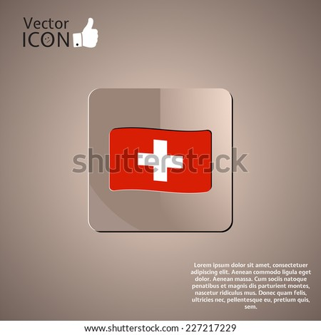 Flag of Switzerland. Flat style. Made in vector