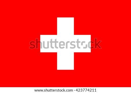 Flag of Switzerland. Switzerland flag vector illustration. - stock vector