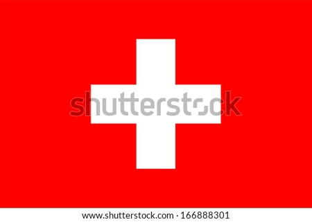 Flag of Switzerland. Vector. Accurate dimensions, element proportions and colors. - stock vector