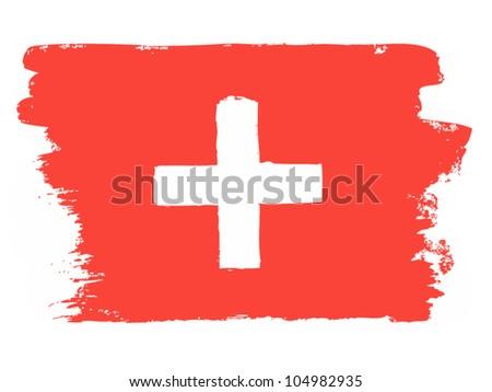 Flag of Switzerland, vector illustration - stock vector