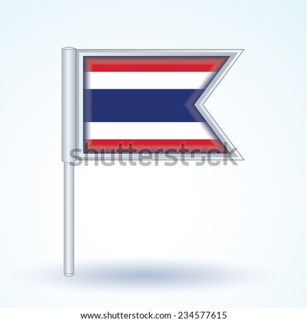 Flag of Thailand, vector illustration