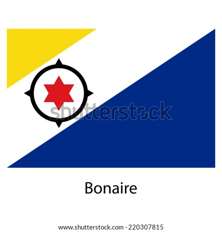 Flag  of the country  bonaire. Vector illustration.  Exact colors.  - stock vector