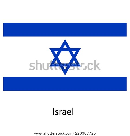 Flag  of the country  israel. Vector illustration.  Exact colors.  - stock vector