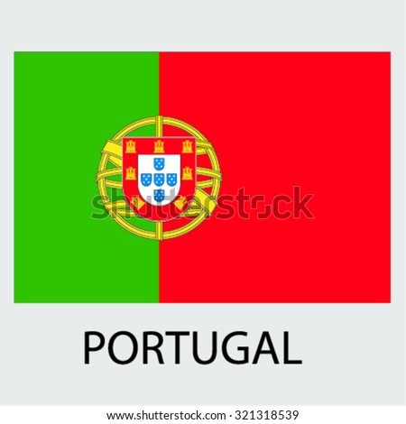 Flag of the country Portugal Portugal - stock vector