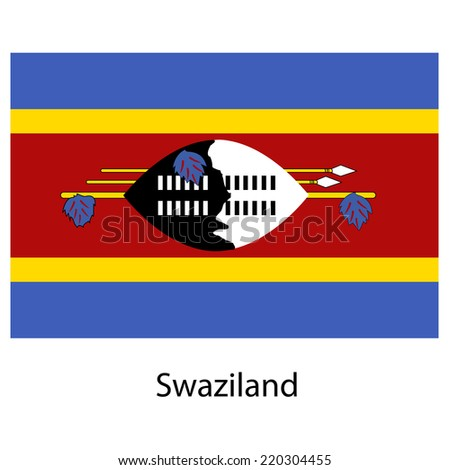 Flag  of the country  swaziland. Vector illustration.  Exact colors.  - stock vector