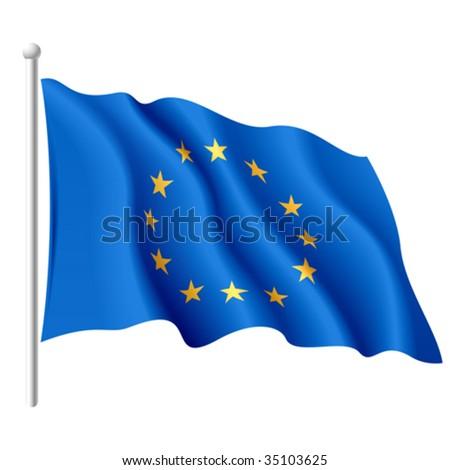 Flag of the European Union. Vector. - stock vector