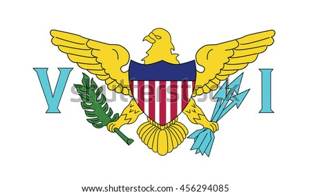 Flag of the U.S. Virgin Islands. Vector. Accurate dimensions, element proportions and colors.