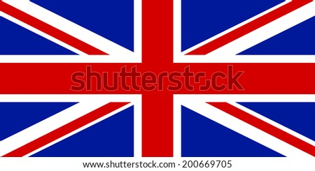 Flag of the United Kingdom. Vector illustration. - stock vector