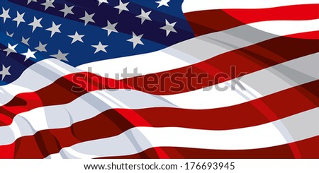 Flag of the United States of America - stock vector