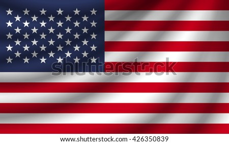 Flag of the United States of America, vector illustration