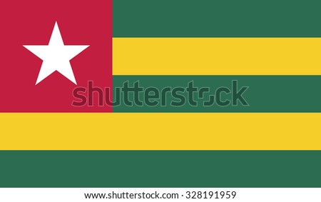 Flag of Togo - stock vector