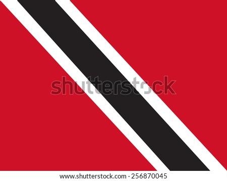 Flag of Trinidad and Tobago - stock vector
