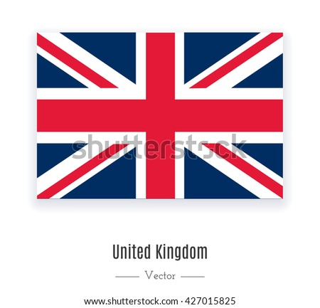 Flag of United Kingdom. Great Britain, United Kingdom flag. Flag of UK. Flag of UK vector. Flag of UK isolated. Flag of UK eps. Flag of UK illustration. Flag of UK icon. Flag of UK ui. Flag of UK web. - stock vector