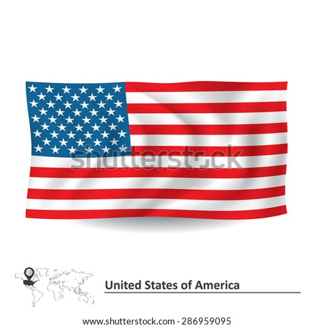 Flag of United States of America - vector illustration - stock vector