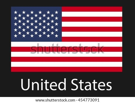 Flag of USA. Vector illustration.