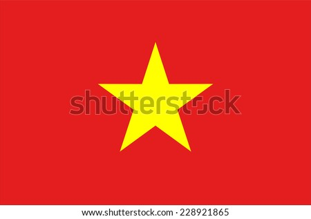 Flag of Vietnam. Vector. Accurate dimensions, elements proportions and colors. - stock vector