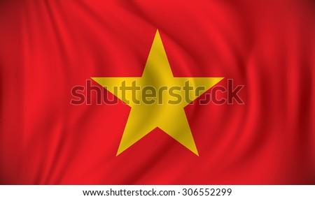 Flag of Vietnam - vector illustration - stock vector