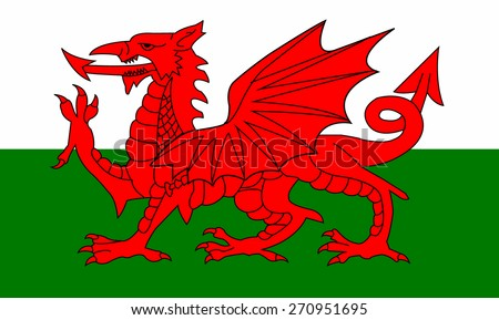 Flag of Wales - stock vector