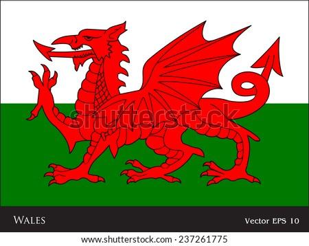 green white red dragon flag