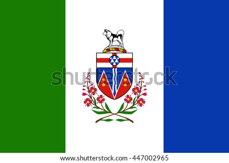 Flag of Yukon Province or territory of Canada. Vector illustration. - stock vector
