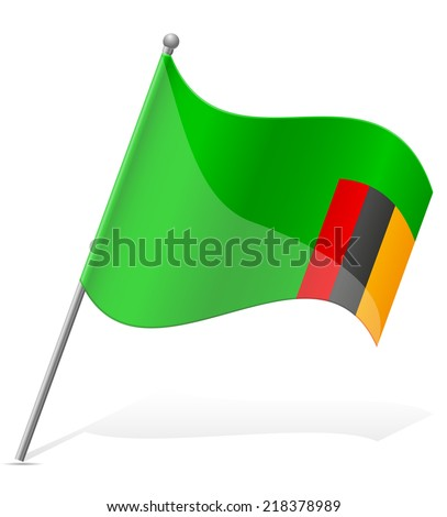 flag of Zambia vector illustration isolated on white background - stock vector