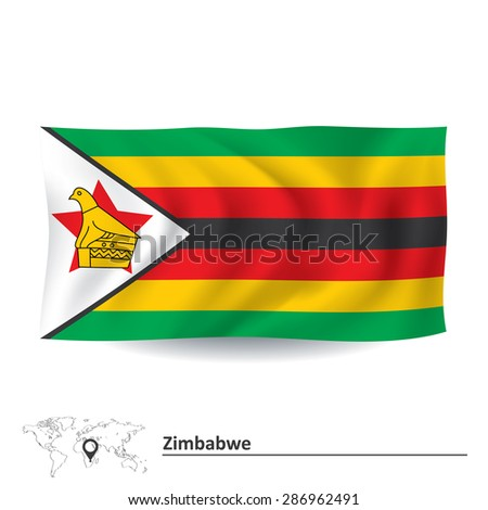 Flag of Zimbabwe - vector illustration