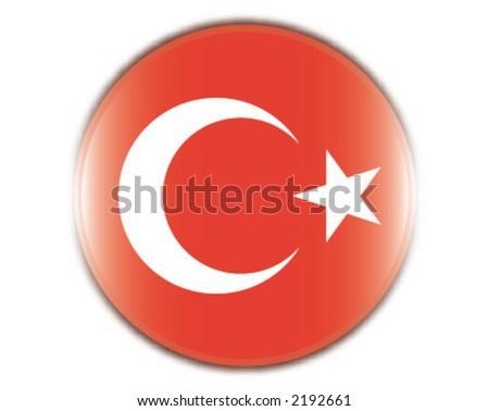 flag, turkey. turkish - stock vector