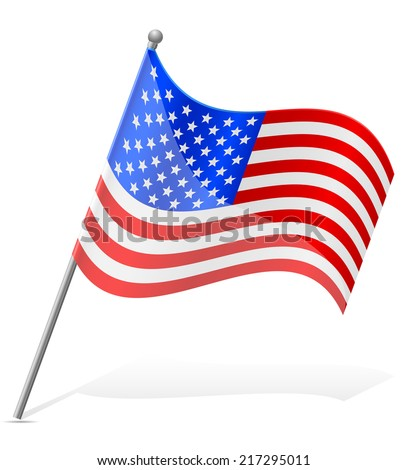 flag United States of America vector illustration isolated on white background - stock vector